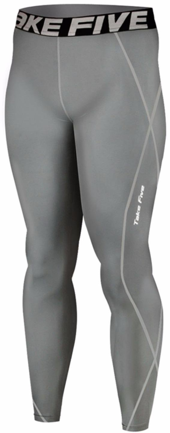 New 019 Skin Tights Compression Leggings Base Layer Grey Running Pants Mens JustOneStyle
