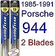 1985-1991 Porsche 944 Replacement Wiper Blade Set/Kit (Set of 2 Blades) (Goodyear Wiper Blades-Hybrid) (1986,1987,1988,1989,1990)