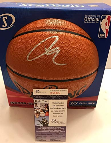 Lamarcus Aldridge Autographed Signed Memorabilia Nba Basketball Spalding San Antonio Spurs JSA Authentic