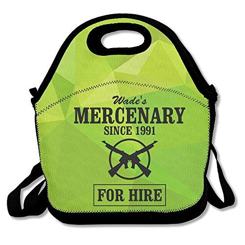 Deadpool Inspired-Wade's Mercenary For Hire Lunch Bag Adjustable Strap