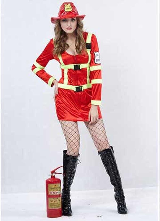 Disfraz adulto Mujer Bombero - talla S / M: Amazon.es: Juguetes y ...