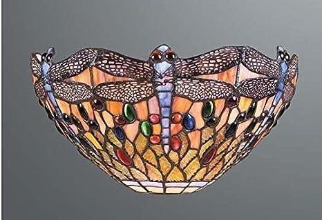 Libellule vitrail tiffany applique murale amazon luminaires