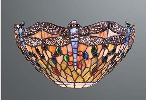Dragonfly Stained Glass Tiffany Wall Light