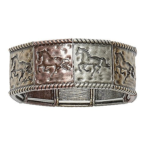 Awst Lila Mixed Metal Stretch Horse ()