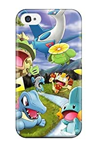 Iphone 4/4s Pokemon Print High Quality Tpu Gel Frame Case Cover by heywan