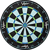 viper chroma tournament bristle steel tip dartboard set with staple-free bullseye, galvanized metal