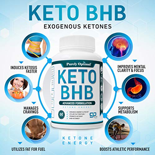 Premium Keto Diet Pills - Utilize Fat for Energy with Ketosis - Boost Energy & Focus, Manage Cravings, Support Metabolism - Keto BHB Supplement for Women and Men - 30 Day Supply