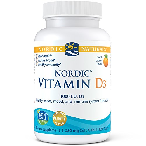 Nordic Naturals Vitamin D3 - Daily Dose of Vitamin D3 For Bone Health, Orange, 120 Soft Gels 250 mg