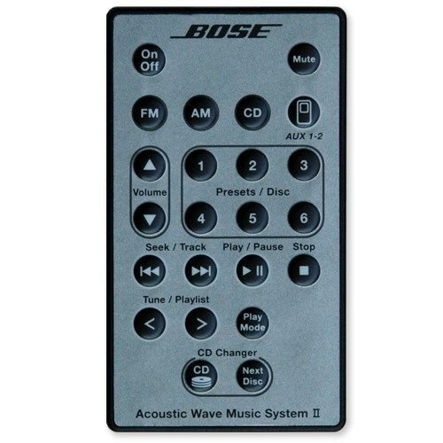 bose-silver-remote-control-for-acoustic-wave-music-system-ii-with-5-multi-cd-changer-accessory