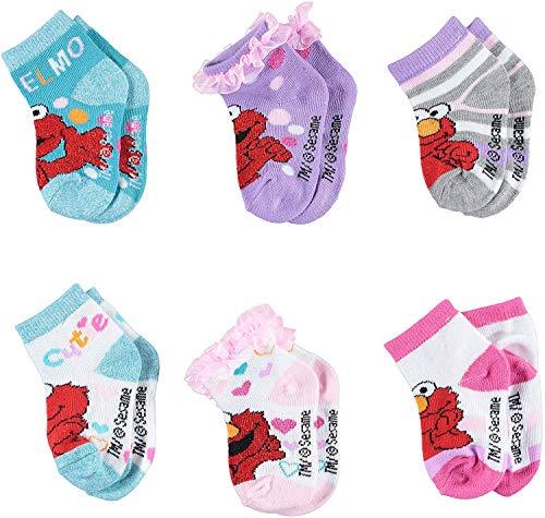 Sesame Street Girls Quarter Socks - Elmo, Cookie