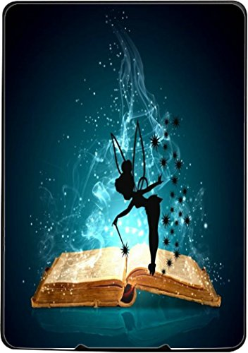 Magic Spell Book with Cute Fairy Silhouette Design Print Image Kindle Paperwhite Vinyl Decal Sticker Skin by Trendy Accessories (Tinkerbell Silhouette)