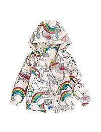 Lavany Baby Girls Winter Long Sleeve Warm Hoodie Coat Children Kids Rainbow Jacket