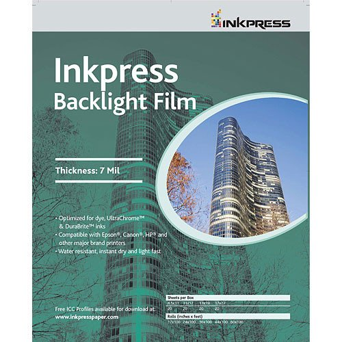 Film Inkpress Backlight - Inkpress Backlight Film 13 x 19 In. 20 Sheets