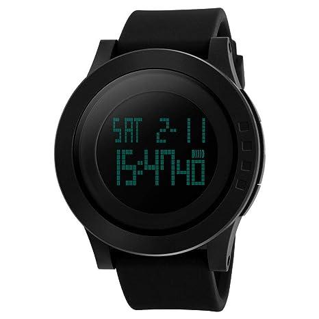 LJS-BQ Reloj Digital para Hombres, Reloj Deportivo con Pantalla Retroiluminada con Fecha Y