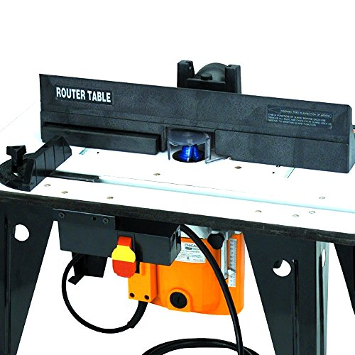 Compact Router Table With 1-3/4 HP Router Electric Power Tool Dust Collection Ready With Clear Plastic Guard For Easier Viewing Sturdy Handy Portable Wood Working Router With Speed Control Depth (Handy Router)