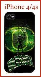 NCAA University of Oregon Ducks iPhone 4 4s Case Hard Silicone Case by icecream design