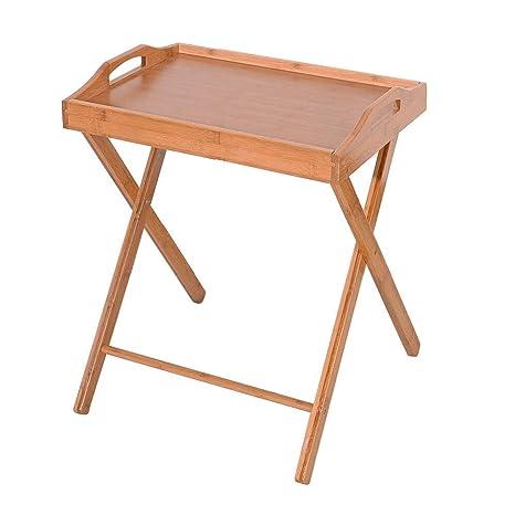 premium selection 89a24 d98c2 Amazon.com: eakkans Bamboo Table Coffee Stand Folding Wood ...