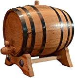 10-Liter American White Oak Aging Barrel | Age your own Tequila, Whiskey, Rum, Bourbon, Wine