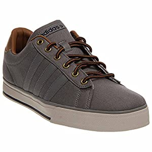 adidas Men's Daily Grey/Grey/Timber Sneaker 8.5 D - Medium