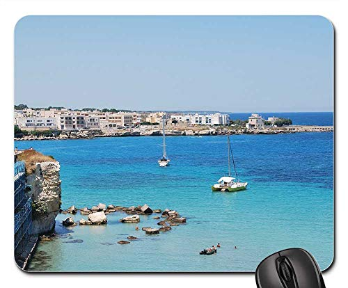 Mouse Pad - Salento Puglia Sea Gallipoli Italy Landscape Pier