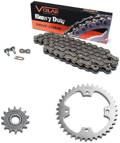 Heavy Duty for 2008-2014 Kawasaki KFX450R KSF450 Volar Chain and Sprocket Kit