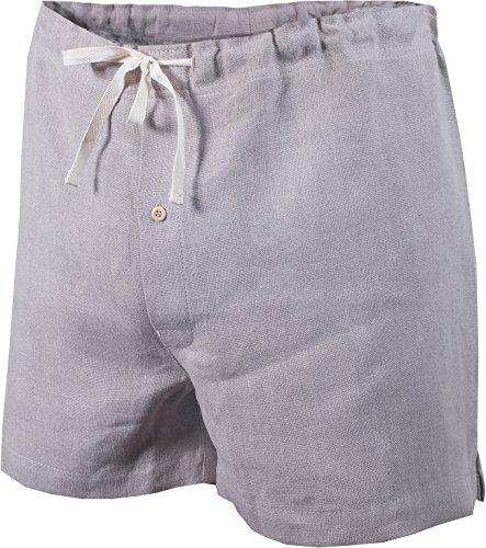 Undyed Linen - Rawganique Men's Lyon Elastic-Free Organic Linen Boxers L. Natural (Undyed, Unbleached)