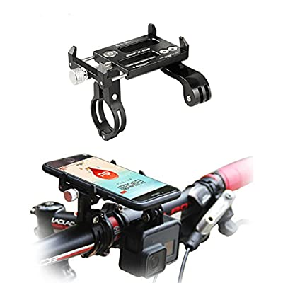 GUB Bike Phone Mount Holder,Bicycle Handlebar Phone Holder Mount Universal Adjustable Rotating Cradle Clamp for Mountain Bike Motorcycle,Fits for iPhone,Samsung Galaxy Android Phones (Black 88)
