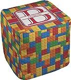 RNK Shops Building Blocks Cube Pouf Ottoman - 13'' (Personalized)