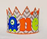 ONE Monster 1st Birthday Crown