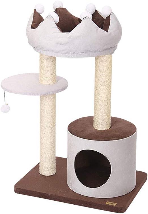 Gato Lujo Marco Escalada Árboles para Gatos Gato Árbol Corona Escalada Gato Grande Gato Juguete Gato Bola De Sisal Estable Ahorro De Espacio Tingting (Color : 90): Amazon.es: Hogar