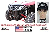 Bundle 2 items: Dragonfire Racing RockSolid Front Bumper for Wildcat Trail/Sport and Free Unhinged ATV HAT!
