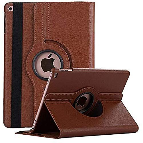 Robustrion Smart 360 Degree Rotating Stand Case Cover for iPad 10.2 inch 7th Generation 2019 – Brown