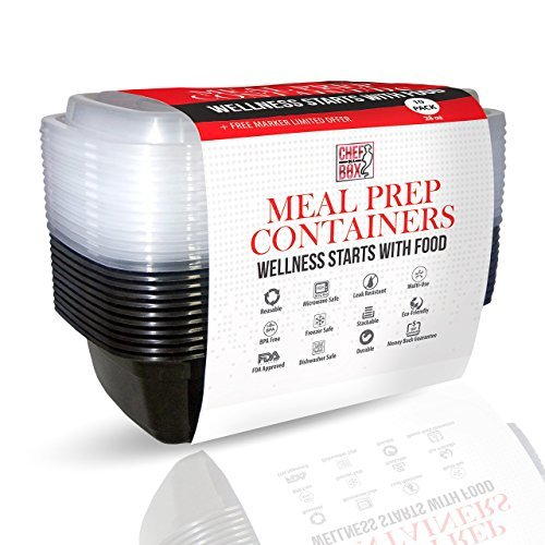 Recipientes para organizar la comida, reutilizables, sin BPA, apto ...
