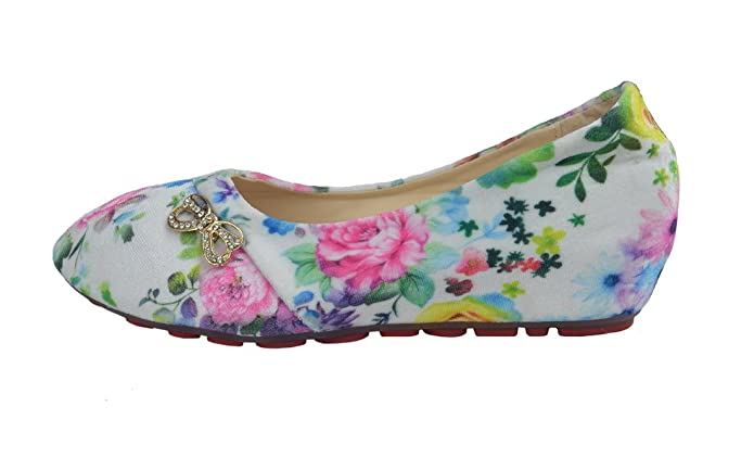 Girl's Ballerina Shoes. Comfortable, Slip on and Hidden Heel: Amazon.co.uk:  Shoes & Bags