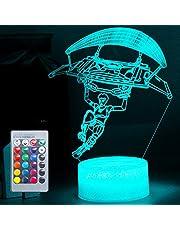 Speelliefhebbers 3D nachtlampje LED speelgoed Jongen Gifts Nachtlampje Nachtkastje 16 kleuren tafellamp ideeën cadeau 3D illusie licht voor verjaardagsfeestdag Kerstmis Halloween Party