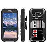 Samsung Galaxy [S6 Active] G890 Armor Case [Mobiflare] [Black/Black] Armor [Holster] Phone Case Screen Protector – [NES Video Game Controller] for Samsung Galaxy [S6 Active] G890 [5.1″ Screen] Review