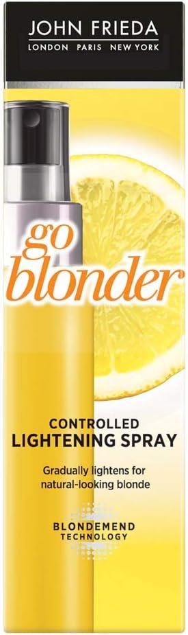 John Frieda Spray Aclarante Camomila Pelo Rubio 100 ml, Aclarador Cabello Rubio, Sheer Blonde Go Blonder