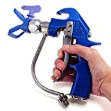 Portable 4600PSI Metallic Practical High Pressure Airless Sprayer Spray Gun with a Nozzle Blue