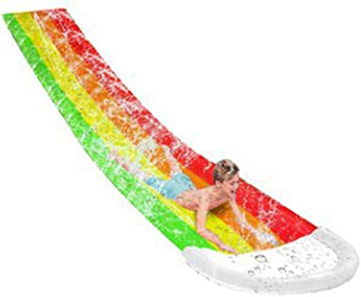ATATMOUNT niños Surf PVC tobogán de Agua al Aire Libre Verano jardín Patio Trasero Tabla de Surf diversión Piscina para niños: Amazon.es: Hogar
