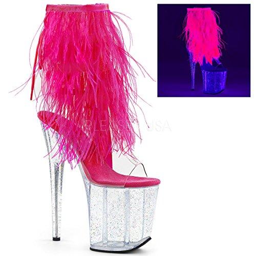 pleaser Women's Flamingo-1017MFF Ankle-High - High Platform Heel Dancer