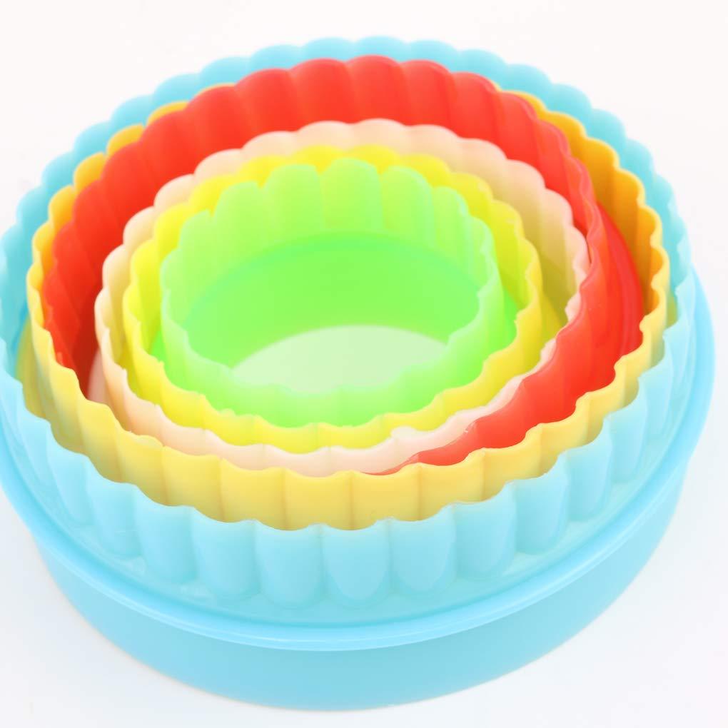 LafyHo Colorido Multi-Forma del Molde pl/ástico de la Galleta Cortador de la Galleta del Molde de pasteler/ía Herramientas Maker envi/ó aleatoriamente