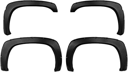 Incl. 2007 Classic Models Premium Fender Flares for 1999-2006 Chevy Silverado//GMC Sierra Smooth Matte Black Paintable Pocket Bolt-Riveted Style 4pc