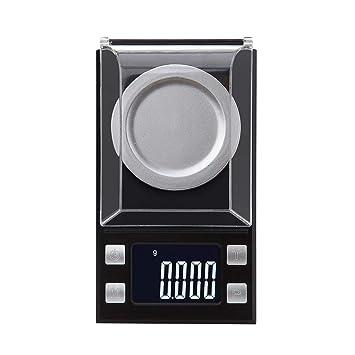 Uzinb 100 g / 0, 001 g LCD Escala Digital de Bolsillo de la joyería Los valores del Peso de Balance balanza de precisión en G TL OZ CT GN DWT: Amazon.es