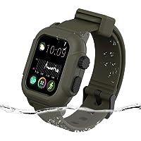 Casok Sport Band Compatible with Apple Watch Waterproof Case 42mm Series 3/2, Waterproof Shockproof Impact Resistant…