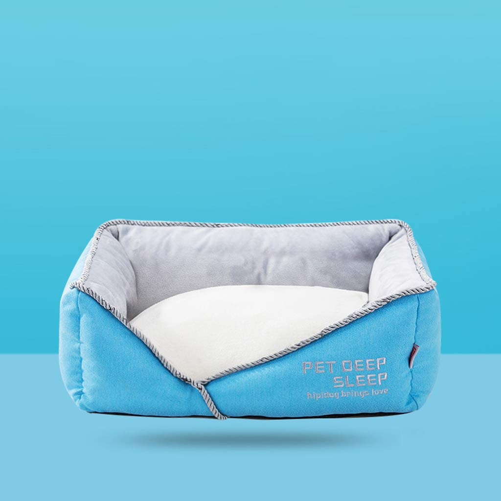 L SXHDMY-Pet bed Detachable Cat Dog Sofa Bed Warm Pet Nest (bluee) (Size   L)