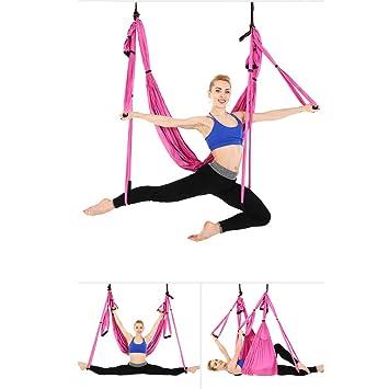 QNMM Hamaca de Yoga aérea Conjunto de Yoga de Seda aérea ...