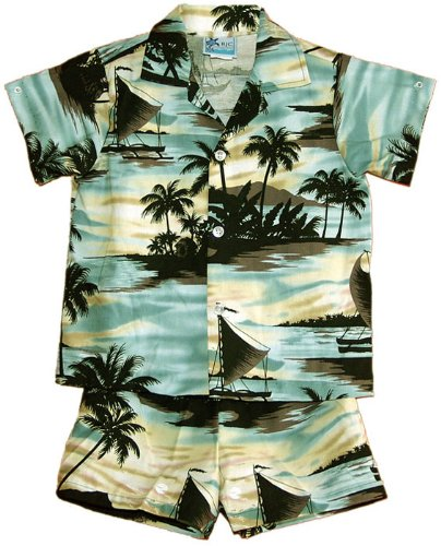 RJC Boys Sunset Island 2pc Set in Gray - 6T by RJC