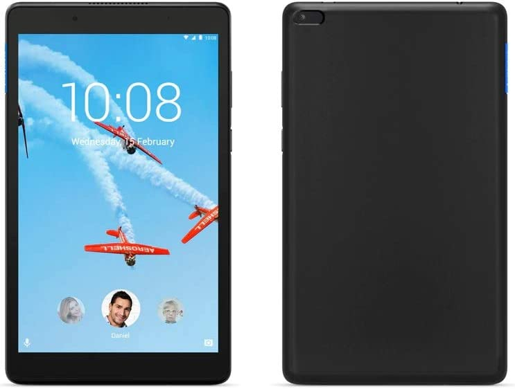 "Lenovo Tablet - Android 7.0 (Nougat) - 16 GB Embedded Multi-Chip Package - 8"" IPS (1280 x 800) - microSD Slot - Slate Black (ZA3W0054US)"