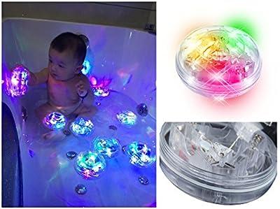 Baby Bath Bathtub Toys Bath LED Lights Up Bath Toys Bathroom Tub Led Toys for Kids Toddlers Girls Boys
