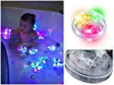 #3: Baby Bath Bathtub Toys Bath LED Lights Up Bath Toys Bathroom Tub Led Toys for Kids Toddlers Girls Boys